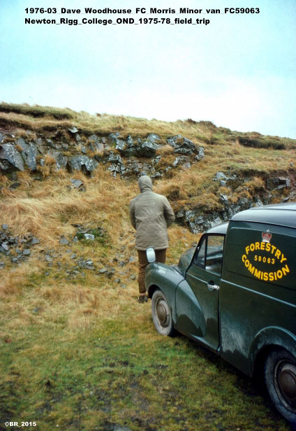 Dave Woodhouse and Morris Minor van