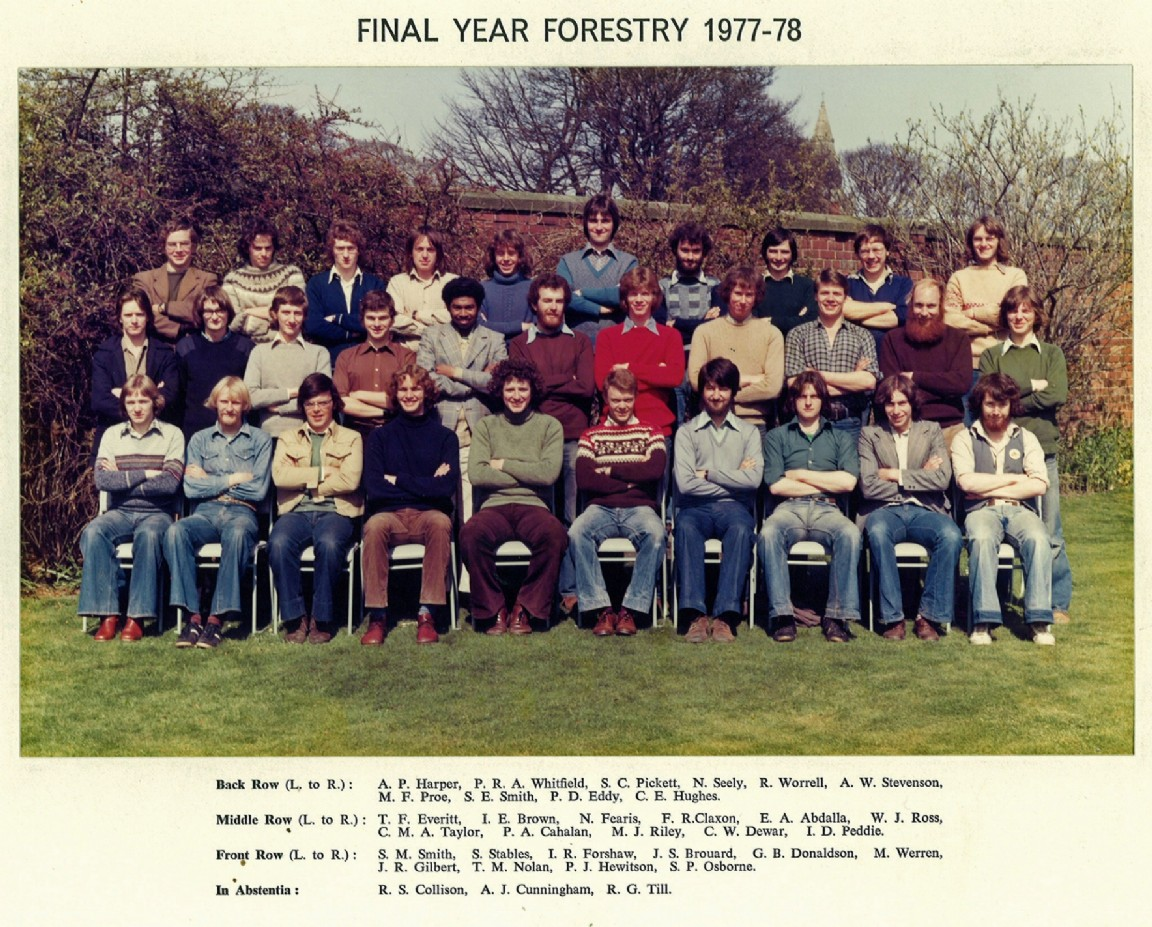 Aberdeen University Forestry students 1977-78