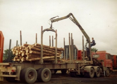 Loading Pulpwood for Shotton factory in Wales