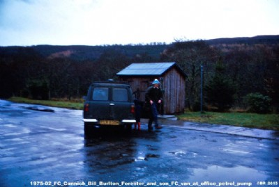 Bill Burlton at Cannich Office, Affric Forest